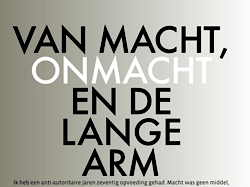 Anemoon Langenhoff essay FRITS magazine Van macht, onmacht en de lange arm