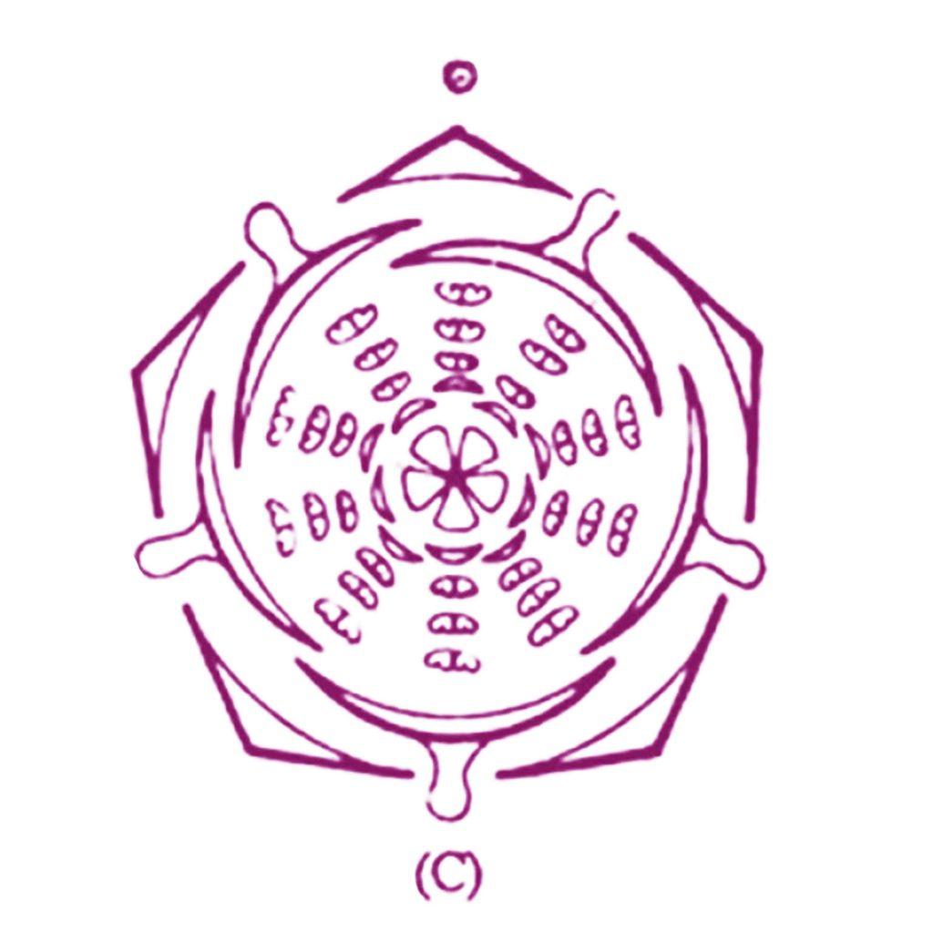 bloemdiagram Anemoon paars